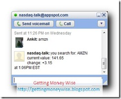 Check NASDAQ Stock Quotes directly from Google Talk