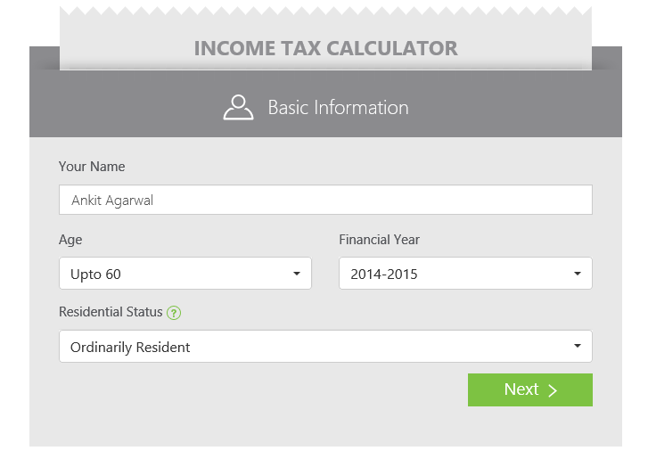 income tax calculator 1