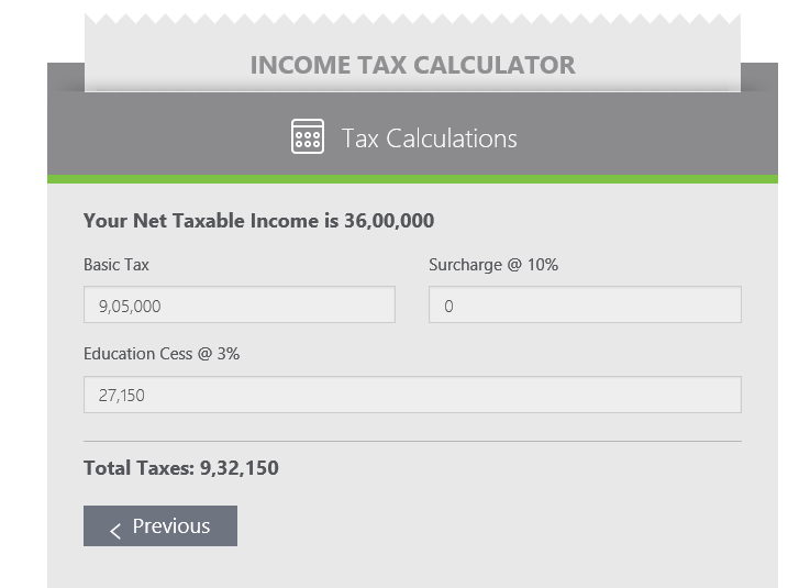 income tax calculator 2